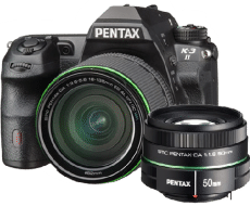 Pentax k32 18135 and 50mm