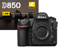 D850 with banner